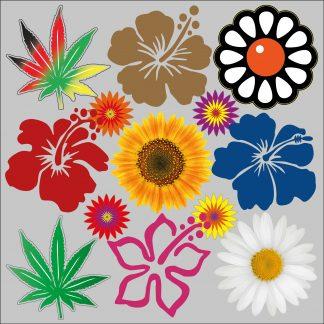 Blumen und Pflanzen Aufkleber
